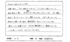 名古屋市在住の38歳男性、スポーツのケガの口コミ